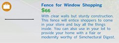 Fence for Window