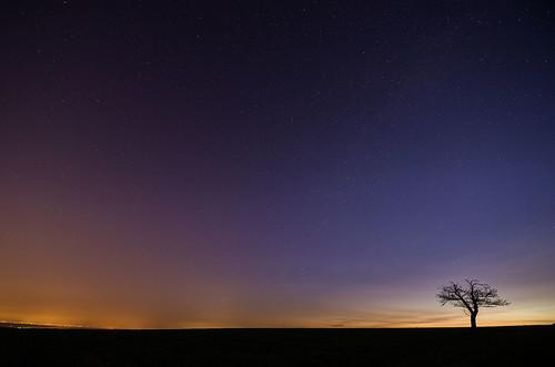 sky sunrise stars sternenhimmel kleinumstadt