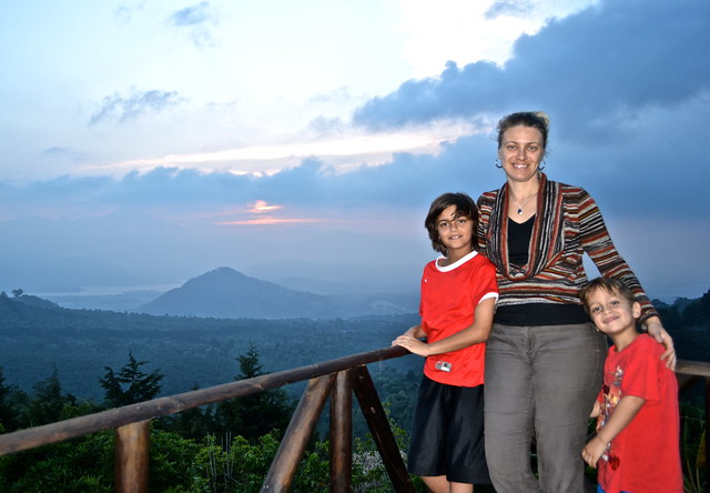 sunset fun - Green Rush Nature Park, Guatemala