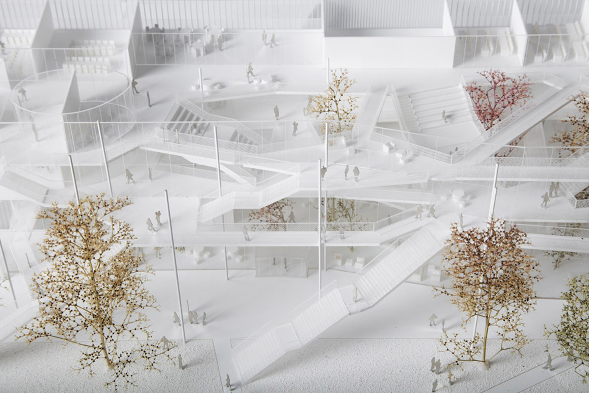 Learning center for Polytechnique school design by Sou Fujimoto architects + Manal Rachdi OXO architects+ Nicolas Laisne Associes