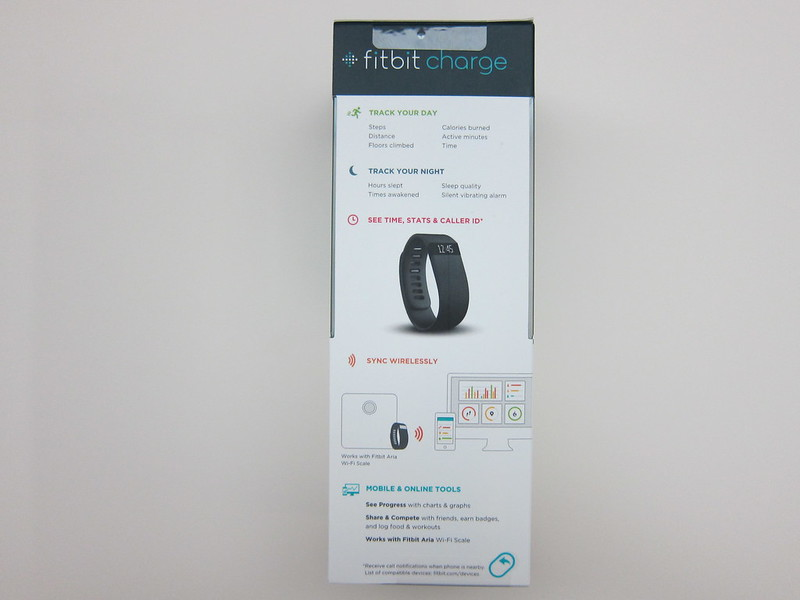 Fitbit Charge - Box Back