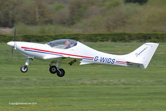 G-WIGS - 2007 build Yeoman WT9 Dynamic, climbing on departure from Runway 26L at Barton
