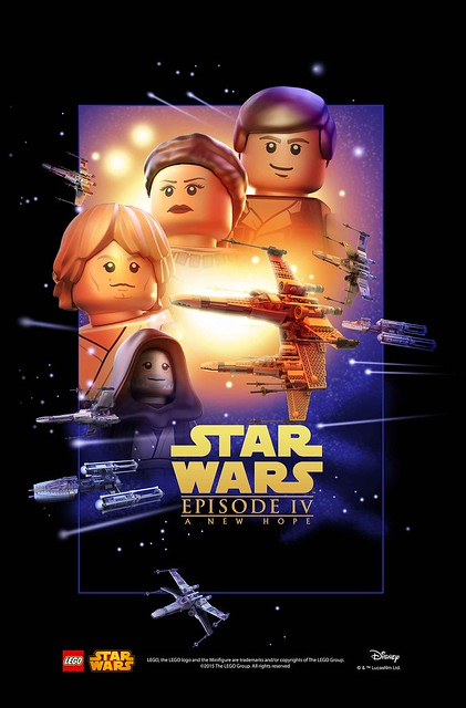 LEGO Star Wars Movie Poster - Episode 4