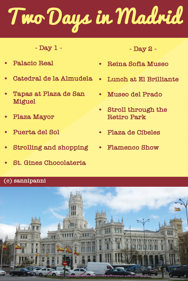 Two Day Madrid Itinerary