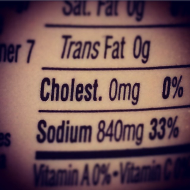 "Signs you spend too much time online #937: Thought it said ""Cholesterol OMG!"" (Honestly if anything should be OMG! WTF? it's the sodium.)"