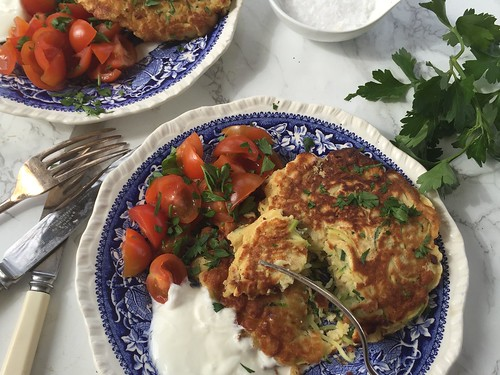 Recipe - Courgette Fritters with tomato relish