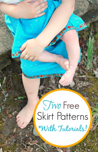 Two Free Matching Skirt Patterns | Freshly Planted