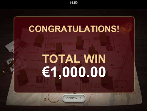 free The Sopranos Mobile bonus feature prize