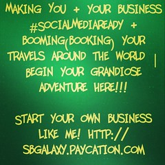 Making You & your business #SocialMediaReady & booming(booking) your travels around the world | Begin your grandiose adventure here!!!  Also, Looking for Independent Travel Agents. Who is tired of working for the next fella? Start your own business like m