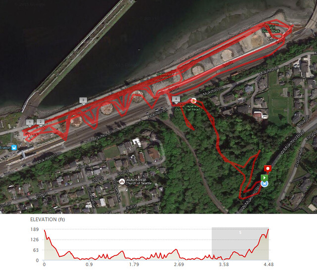 Yesterday's awesome walk, 4.48 miles in 1:34, 10,078 steps, 248ft gain