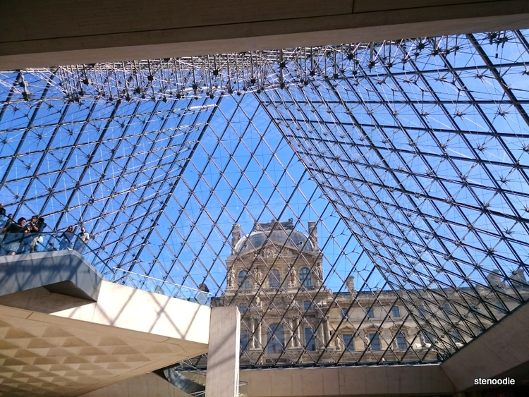 glass pyramid inside Louvre