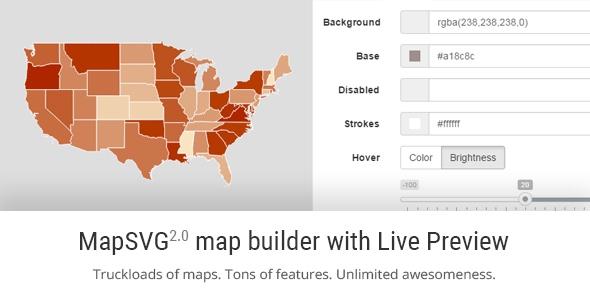 MapSVG v2.0 - responsive vector maps, floorplans, interactive