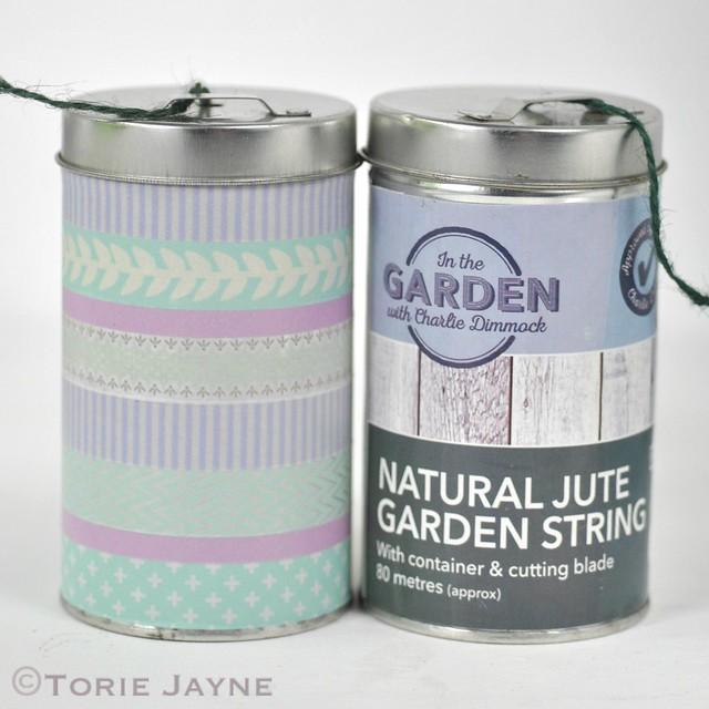 Twine tin with Washi Tape 3