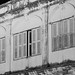 Picture Black&white , ancient Building at phuket , thailand