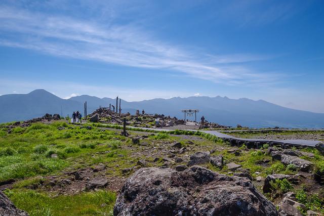 車山神社と八ヶ岳連峰@車山