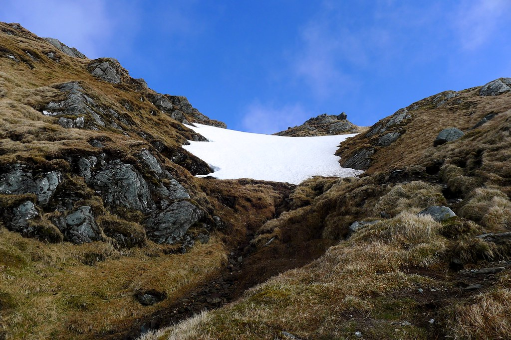 The gully ascent of Beinn Bhuidhe