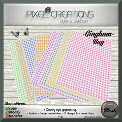[PC] PIXEL CREATIONS - GINGHAM RUG TEX.CHANGE