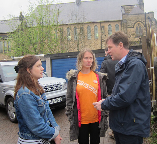 Talking to Nick Clegg about 'Save our NHS' campaign