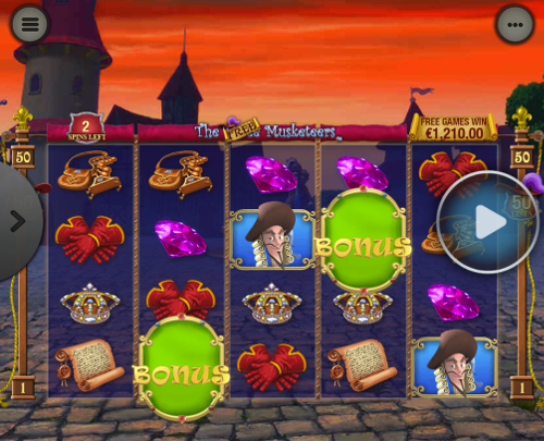 free The Three Musketeers and the Queen's Diamond Mobile Bonus Game