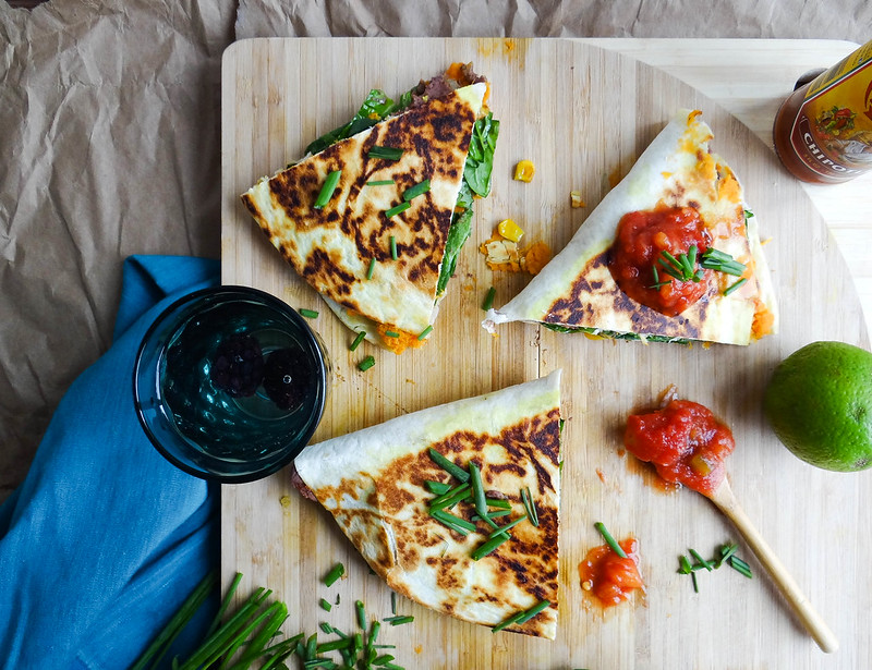 Sweet Potato + Black Bean Quesadilla