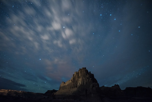 Night Sky and Clouds, Arches National Park