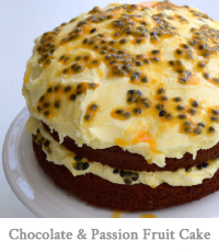 Chocolate & Passion Fruit Cake