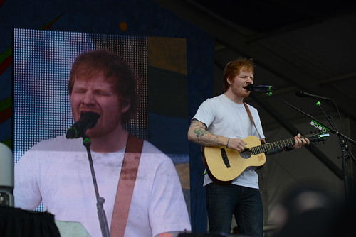 Ed Sheeran on Gentilly Stage. Photo by Leon Morris.