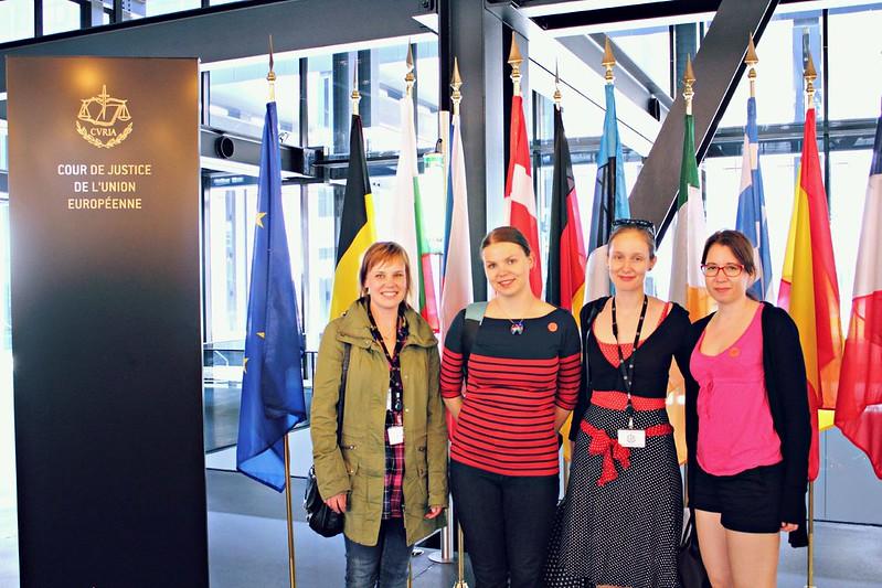 EU-tuomioistuimessa vierailulla