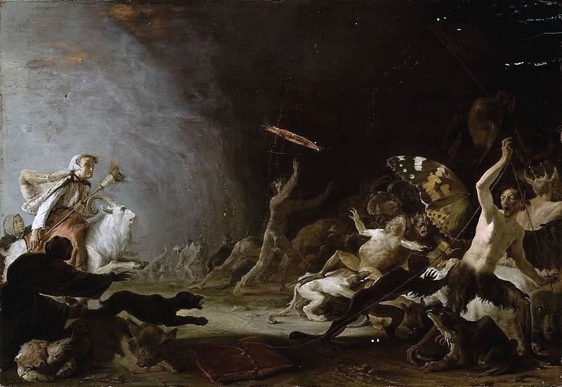 Cornelis Saftleven - A Witches' Sabbath, 1650