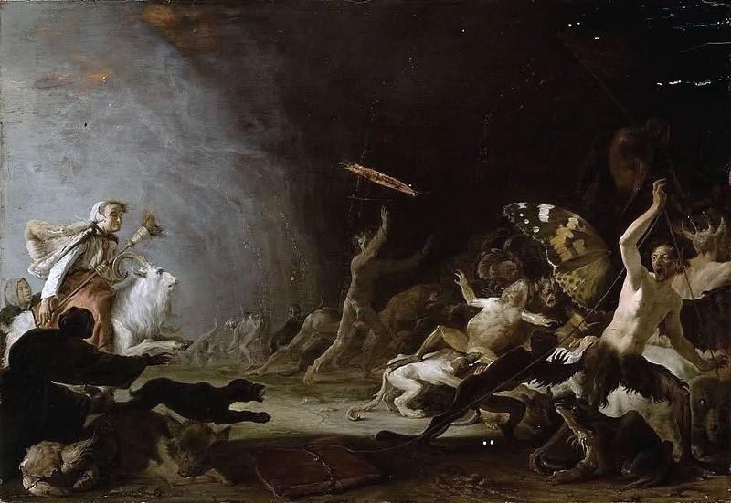 Cornelis Saftleven - A Witches' Sabbath, 1650