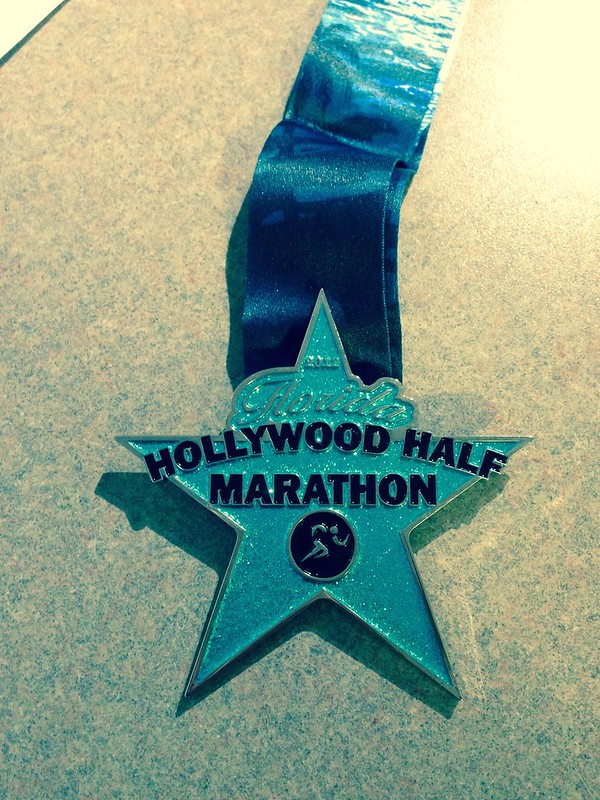 Florida Hollywood Virtal Half Marathon medal