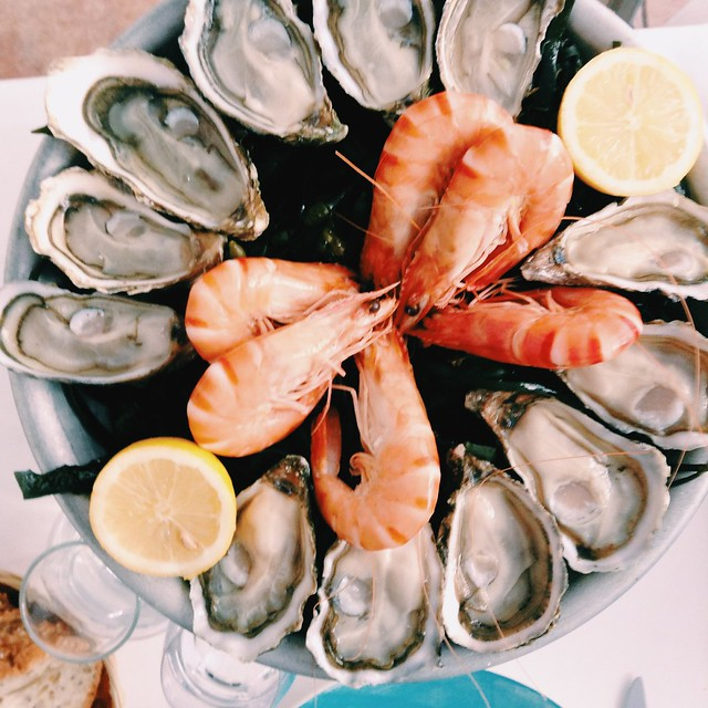 So much seafood, an oyster feast in Paris.