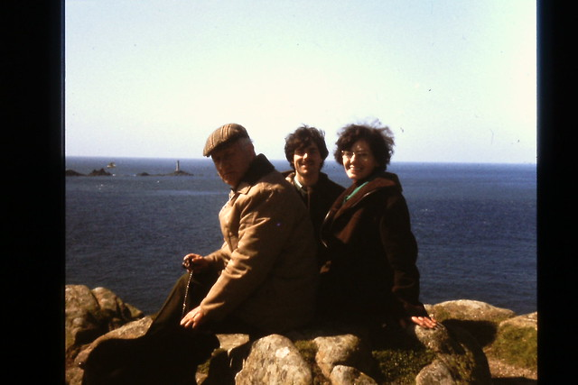 My Dad, Mum and me at Lands End in the mid 1970s