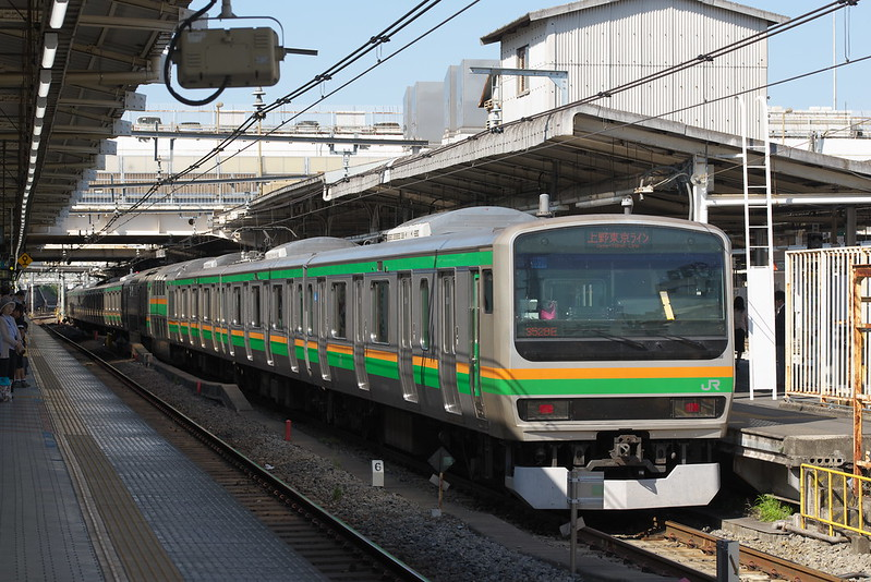 Tokyo Train Story 上野駅にて 上野東京ライン 2015年5月5日