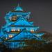 Osaka castle by night