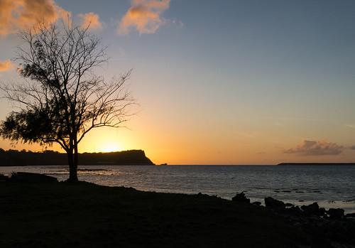 sunset usa seascape canon landscape spring unitedstates clear pointandshoot guam santarita canonpowershots110 apraharbor orotepoint gabgabbeach navalbaseguam