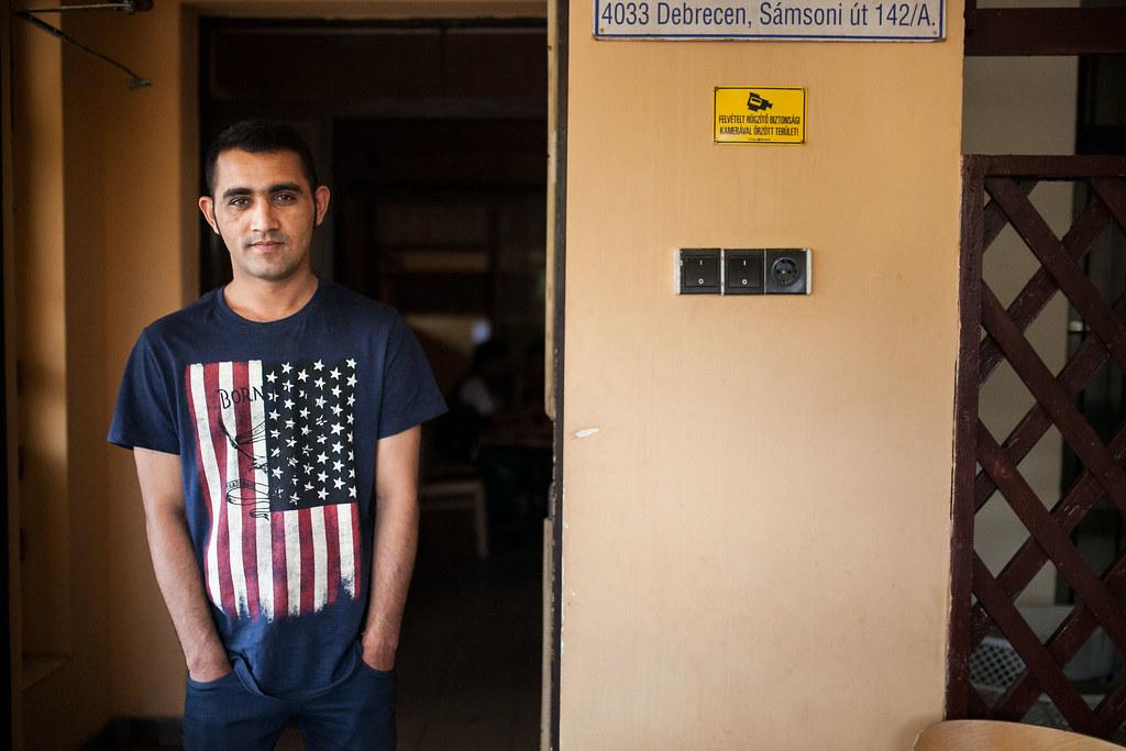 A debreceni menekülttábor lakói