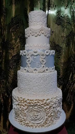 Happy Bride's Cake by Jenna of Cake Engineer