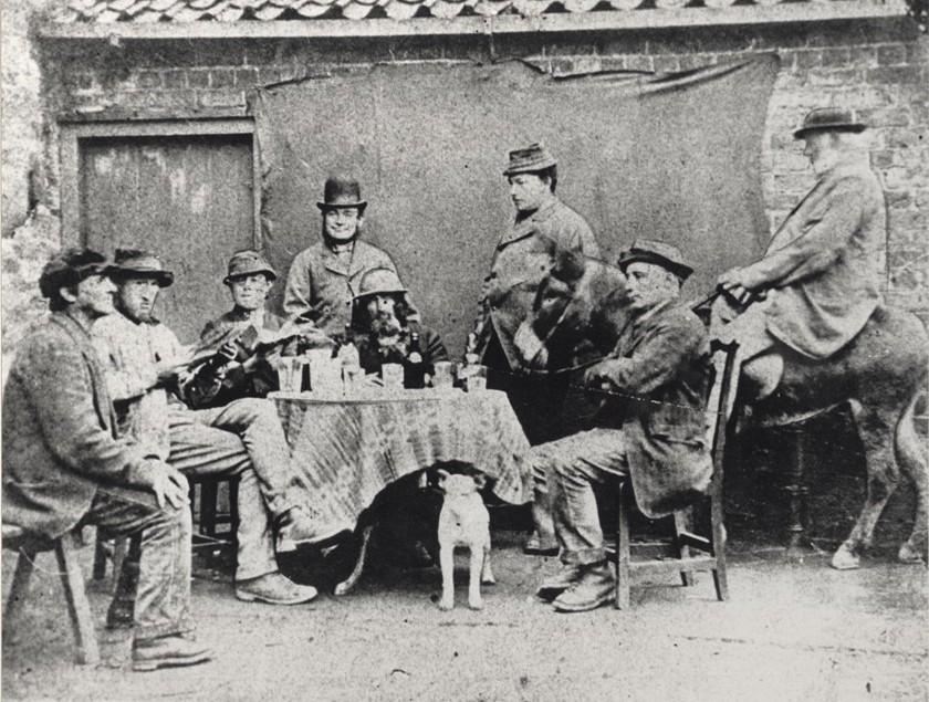 Outside the Ferguson Fawsitt Arms pub, Walkington 1875  (archive ref PC43-68)