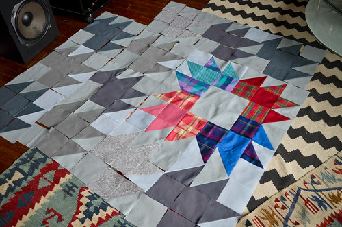 Step 5: Keep laying out and sewing squares together