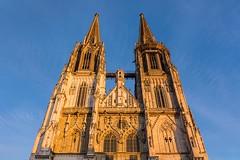 Regensburg Dom Abendlicht