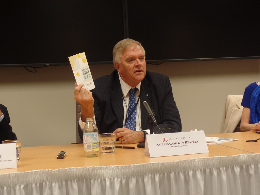Ambassador Beazley highlighted the usefulness of the the new Australia Matters for America/America Matters for Australia publication.