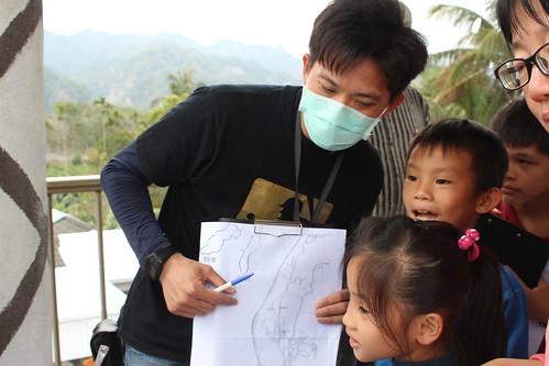 老師讓孩子指認作物種類與分布。攝影:廖靜蕙。