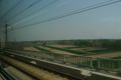 On the train from Hefei to Beijing, China