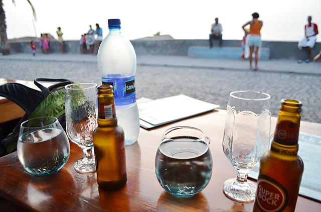 Sunset beer, Ponta do Sol, Santa Antau, Cape Verde