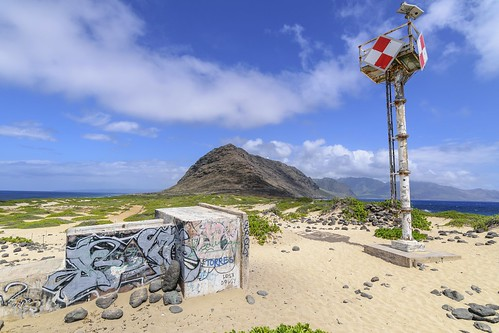 ocean mountain beach point graffiti hawaii nikon oahu tokina beacon kaena