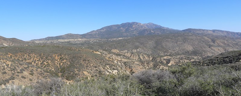 Santa Rosa Mountain and Toro Peak over Alkali Wash and Horse Canyon
