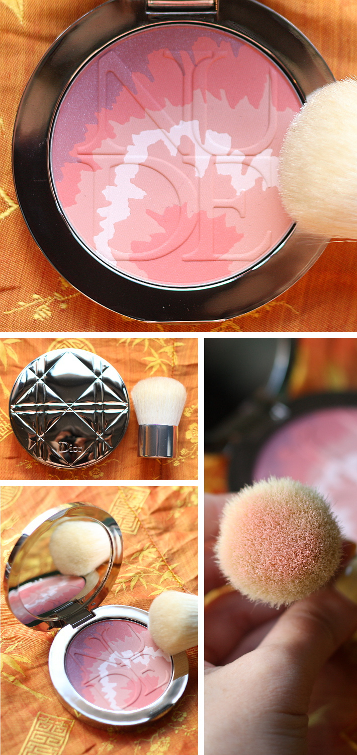 Diorskin nude tan tie dye edition blush in 001 Pink Sunrise: swatch and review