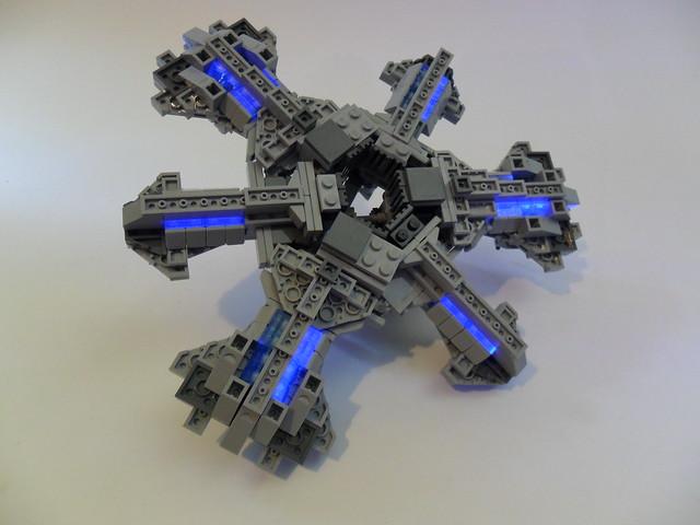 LEGO Stargate Atlantis Bottom (stardrives) blacklight