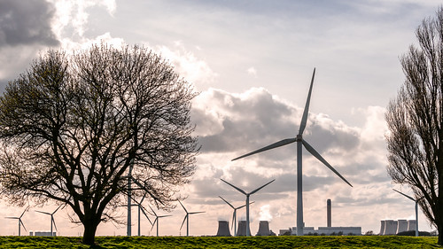 architecture photograph powerstation windfarm drax